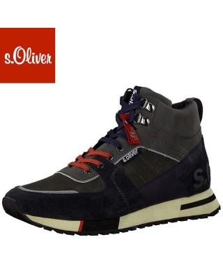 S.Oliver kék száras férfi cipő