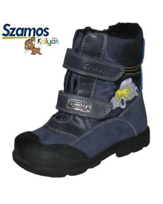 Szamos kölyök SUPINÁLT kék téli cipő