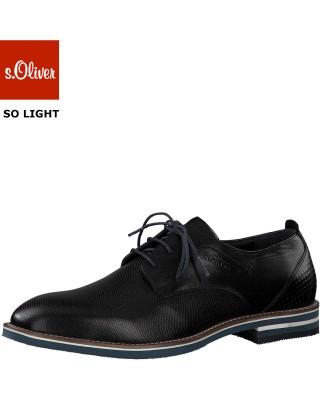 s.Oliver fekete alkalmi cipő