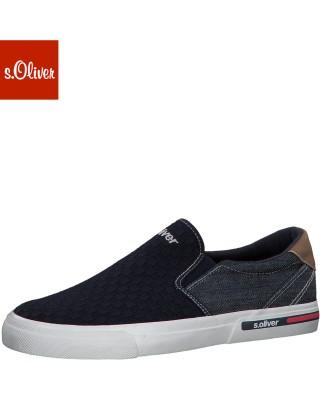 S.Oliver kék belebújós cipő