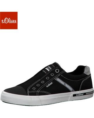S.Oliver fekete belebújós cipő
