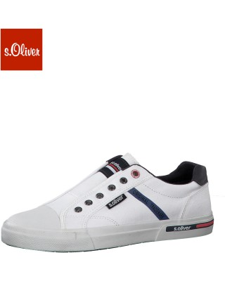 S.Oliver fehér belebújós cipő