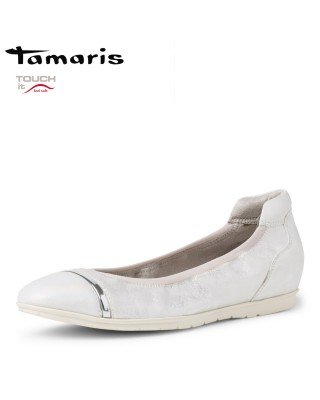 Tamaris ezüst balerina cipő