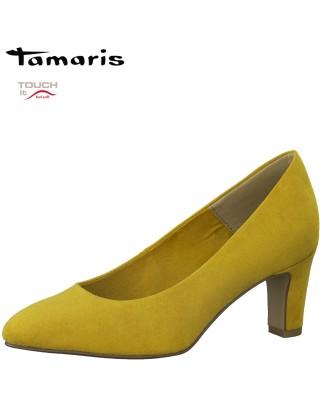 Tamaris sárga magassarkú cipő