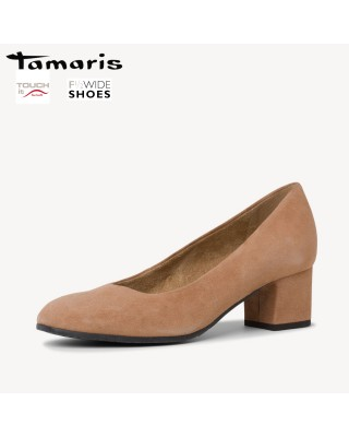 Tamaris barna magassarkú cipő