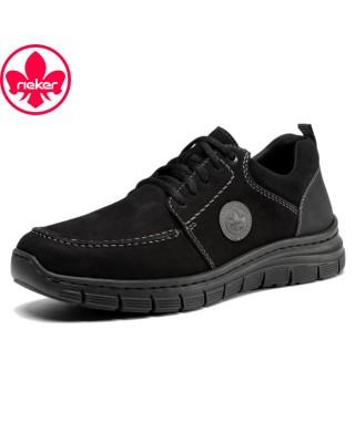 Rieker fekete fűzős cipő