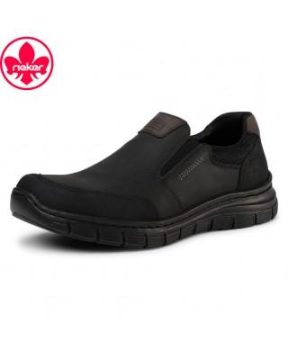 Rieker fekete bebújós cipő