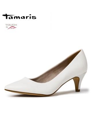 Tamaris fehér magassarkú cipő