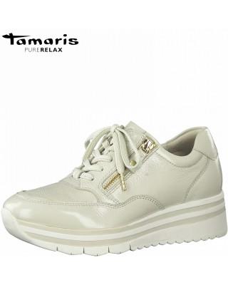 Tamaris világos színű bőr cipő