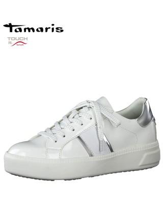 Tamaris fehér lakk sportos...