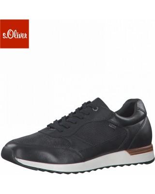 S.Oliver fekete bőr férfi cipő