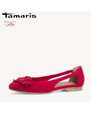 Tamaris piros nyitott cipő