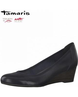 Tamaris kék éktalpú cipő
