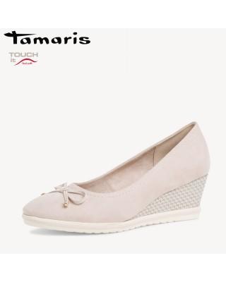 Tamaris bézs magastalpú cipő