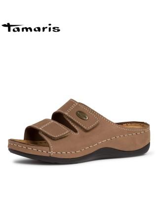 Tamaris barna bőr biopapucs