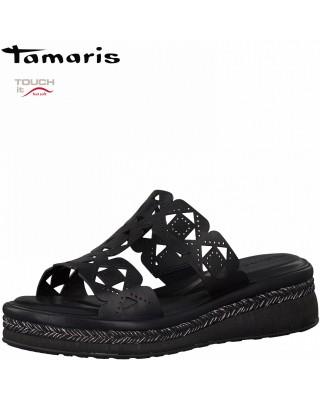 Tamaris fekete színű papucs