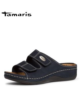 Tamaris kék bőr biopapucs