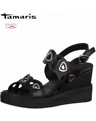 Tamaris fekete telitalpú...