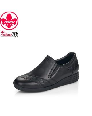 Rieker fekete belebújós cipő