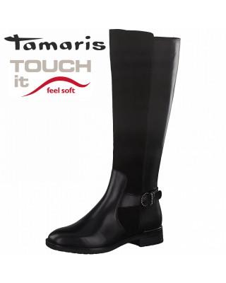 Tamaris fekete csizma