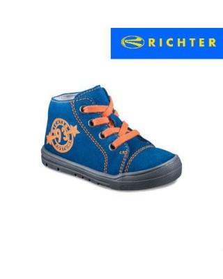 Richter kék fűzős kisfiú cipő