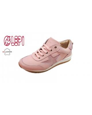 Lepi rózsaszín, csillagos cipő