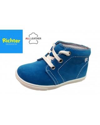 Richter világoskék fűzős kisfiú cipő