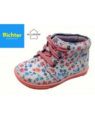 Richter virágos fűzős kislány cipő