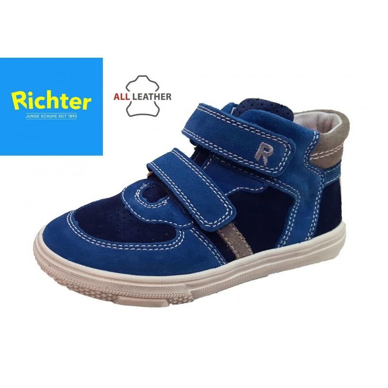 Richter kék tépőzáras magasszárú cipő - Vitálos cipőbolt Szentendre e326c813cf