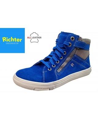 Richter világoskék cipzáras magasszárú cipő