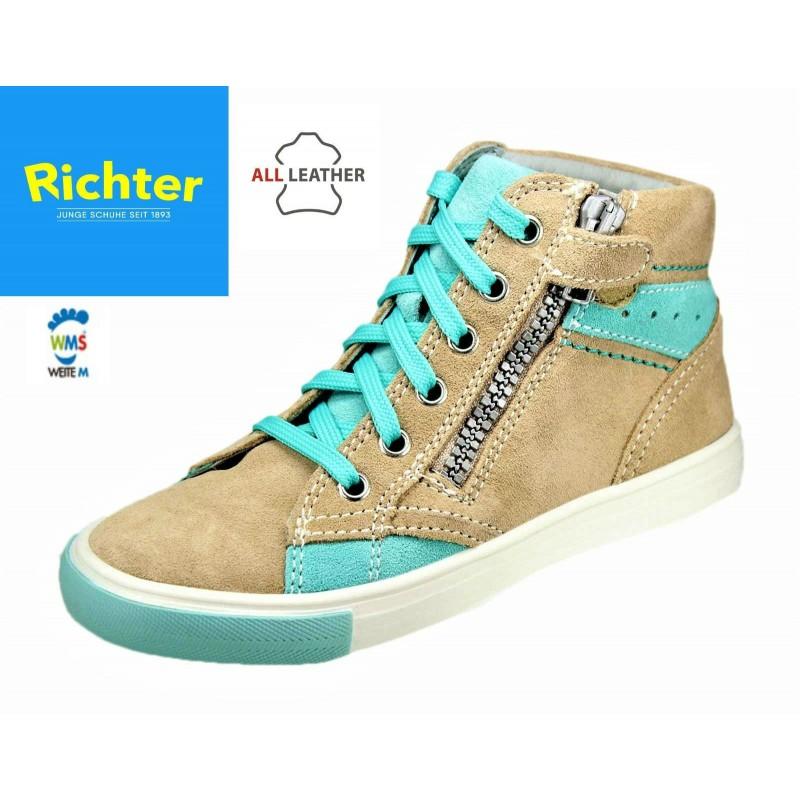 Richter bézs cipzáras magasszárú cipő - Vitálos cipőbolt Szentendre a0149a6a9e