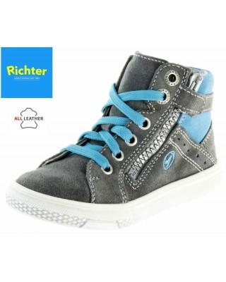 Richter szürke cipzáras magasszárú cipő