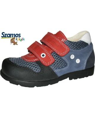 Szamos kölyök SUPINÁLT piros-kék félcipő