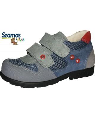 Szamos kölyök SUPINÁLT szürke-kék félcipő