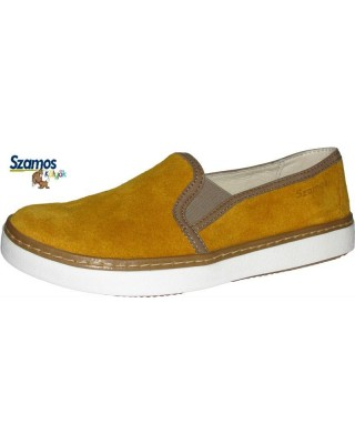 Szamos kölyök mustársárga slip on cipő