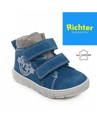 Richter világoskék tépőzáras kisfiú cipő