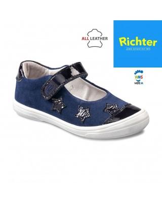 Richter sötétkék balerina cipő