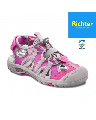 Richter rózsaszín-szürke zárt szandál