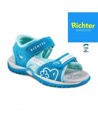 Richter világoskék kislány szandál