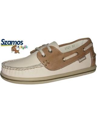 Szamos kölyök barna mokaszin cipő