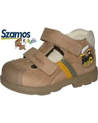 Szamos kölyök SUPINÁLT barna nyitott cipő