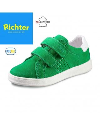 Richter zöld tépőzáras félcipő