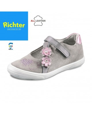Richter szürke lakk balerina cipő