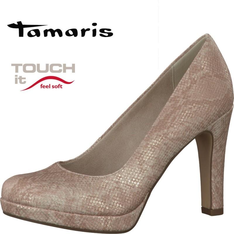 Tamaris bézs színű magassarkú cipő - Vitálos cipőbolt Szentendre 5fc099f813