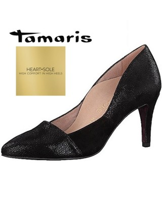 Tamaris H&S fekete magassarkú cipő