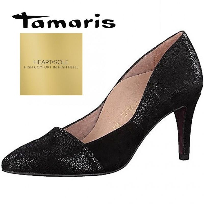 Tamaris H S fekete magassarkú cipő - Vitálos cipőbolt Szentendre 12435bb7bd