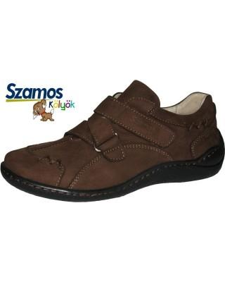 Szamos kölyök barna velúrbőr cipő