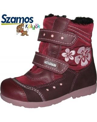 Szamos kölyök SUPINÁLT mályva téli cipő