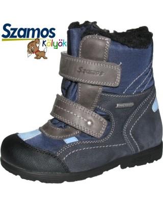 Szamos kölyök SUPINÁLT sötétkék bélelt cipő
