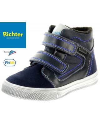 Richter sötétkék bélelt vízálló cipő